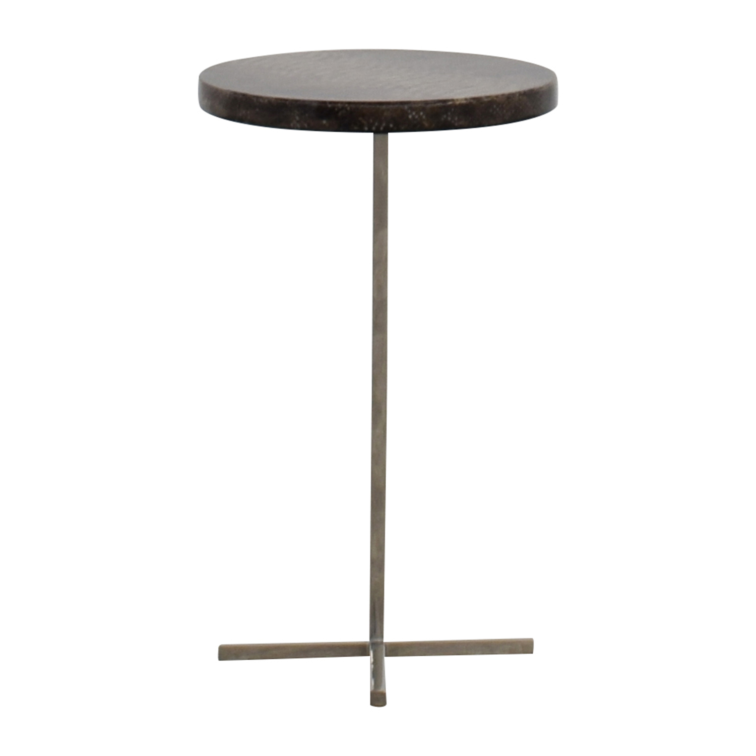 shop Oly Studio Sinclair Faux Snakeskin and Metal End Table Oly Studio Tables