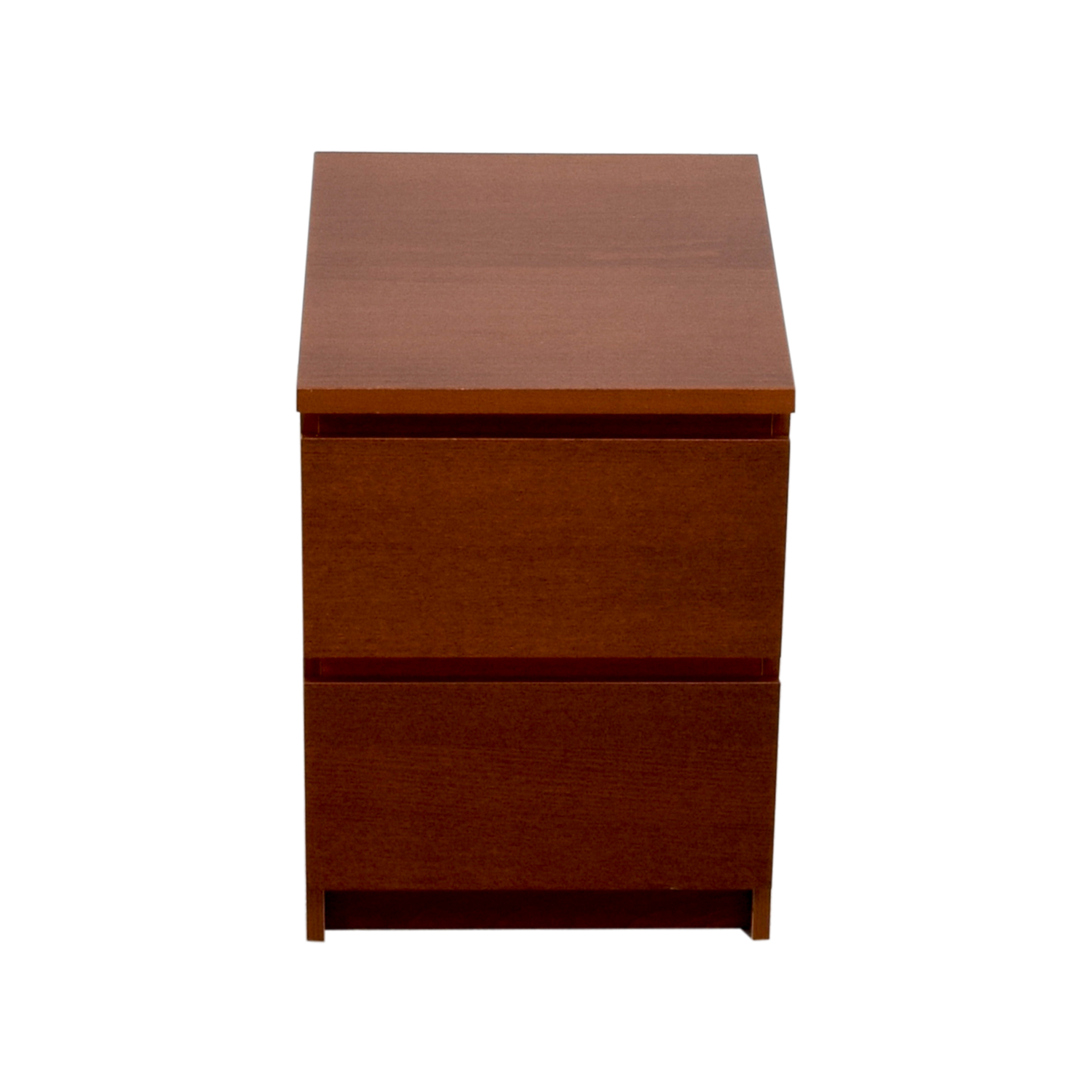 shop IKEA Wooden Two-Drawer Nightstand IKEA End Tables
