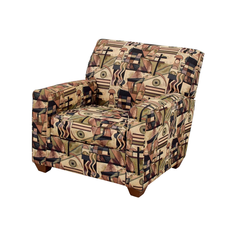 Bauhaus U.S.A Inc Bauhaus USA Inc Geometric Upholstered Armchair