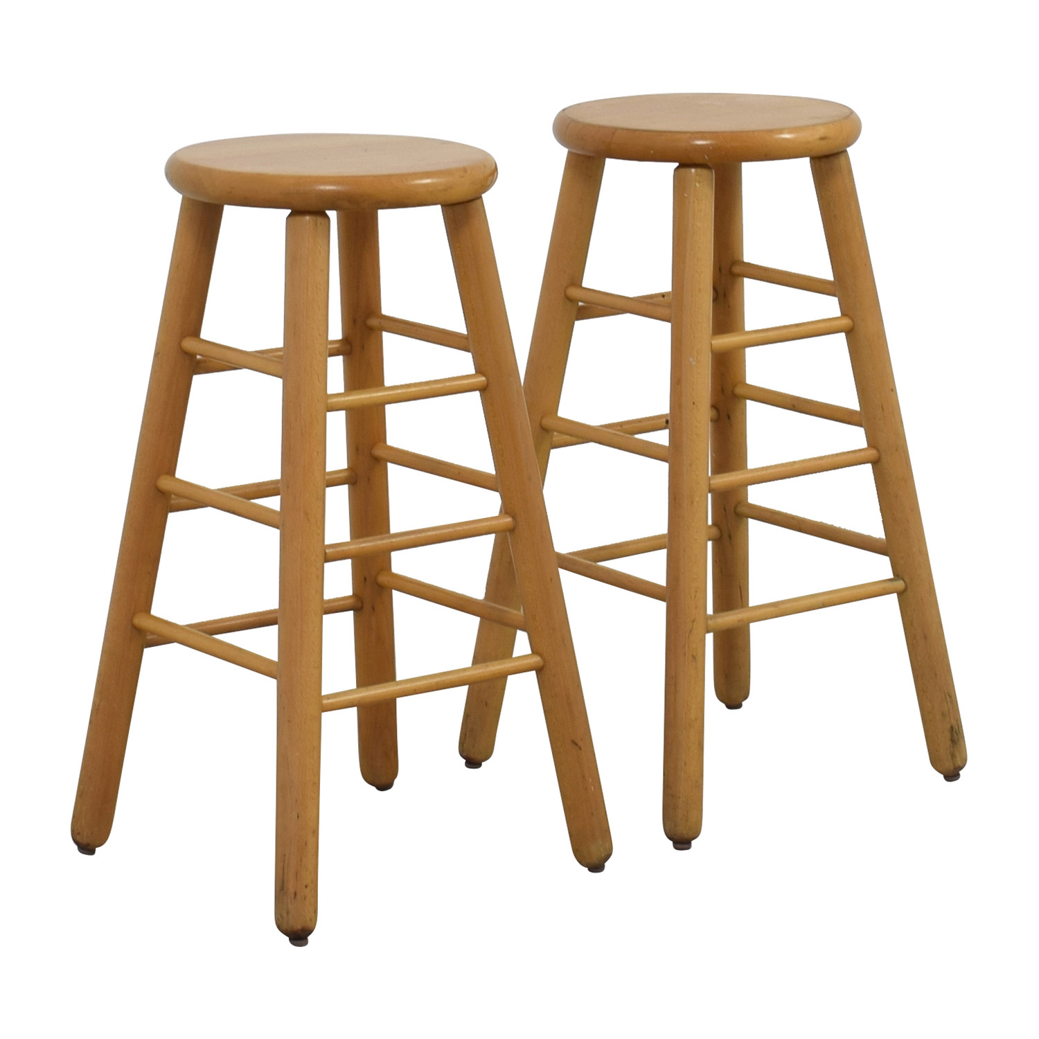 83 Off Wood Bar Stools Chairs