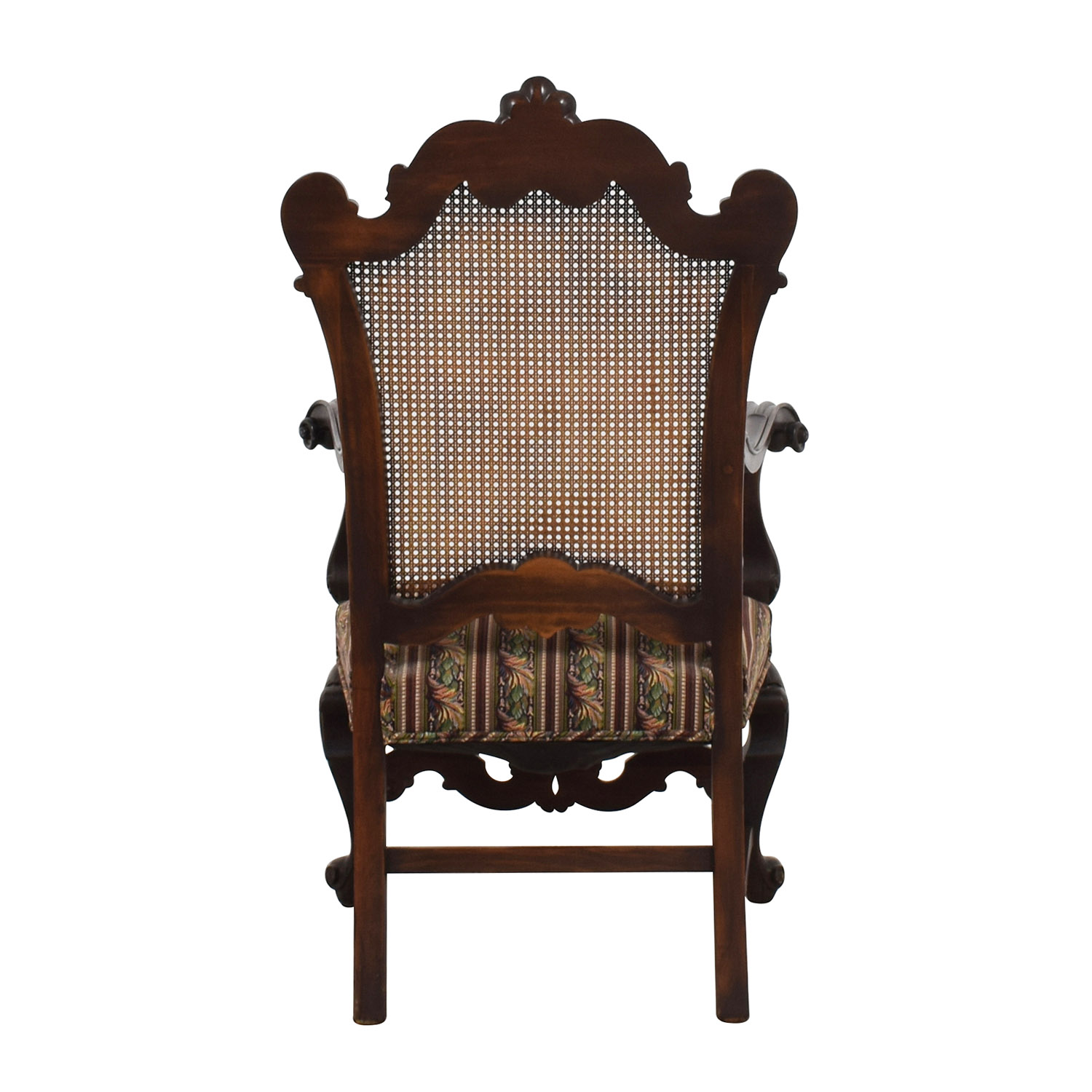 ... Antique Accent Chair With Hole Caning Back On Sale ...