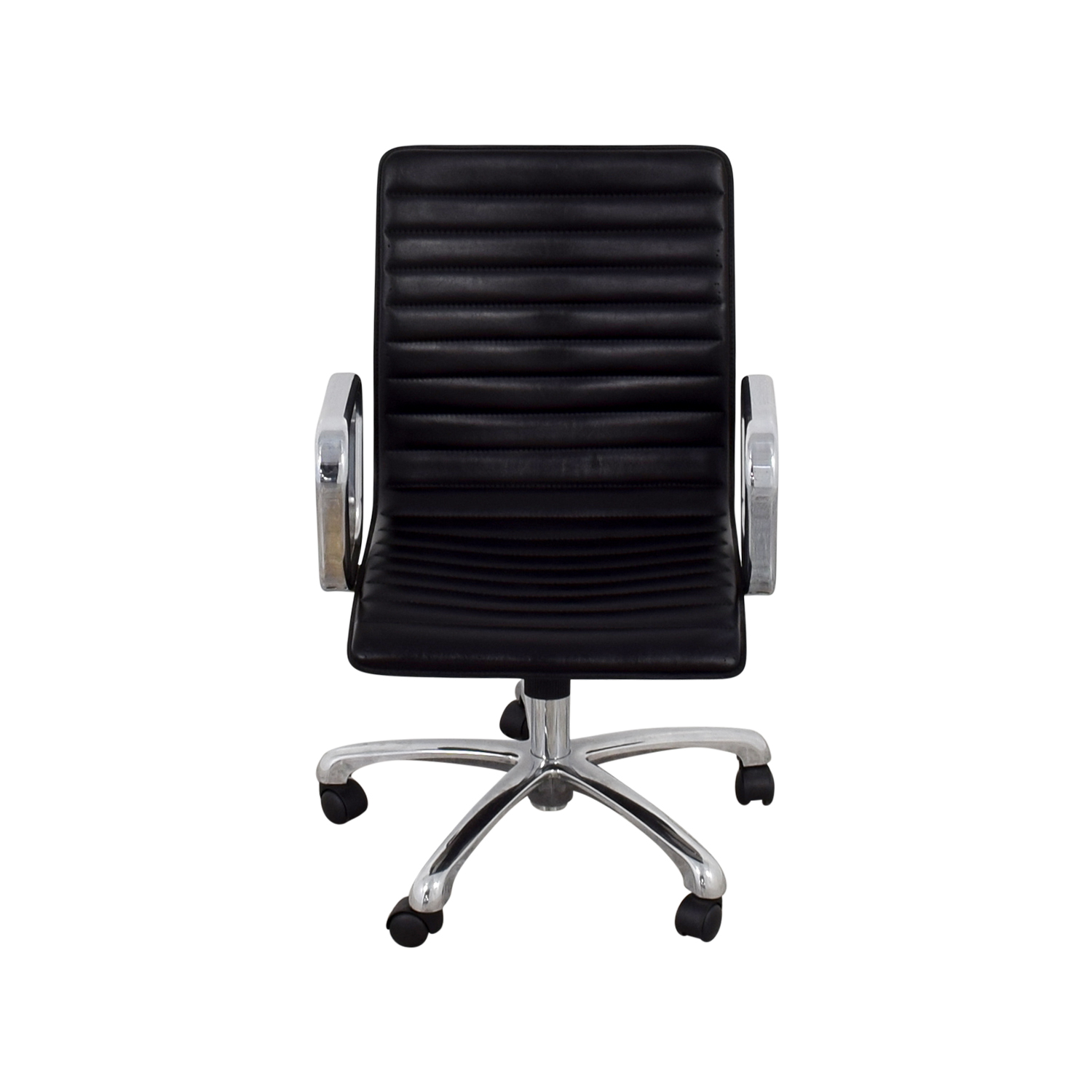 shop Crate & Barrel Ripple Leather Office Chair Crate & Barrel Home Office Chairs