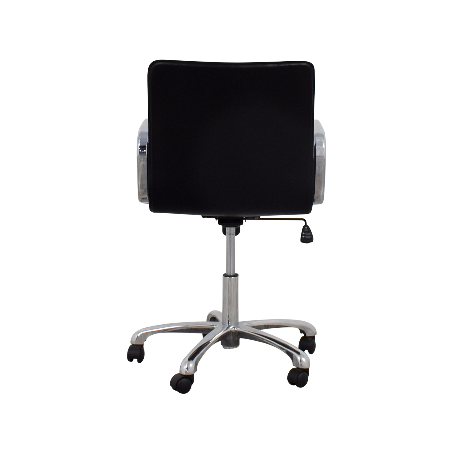 Crate & Barrel Crate & Barrel Ripple Leather Office Chair black