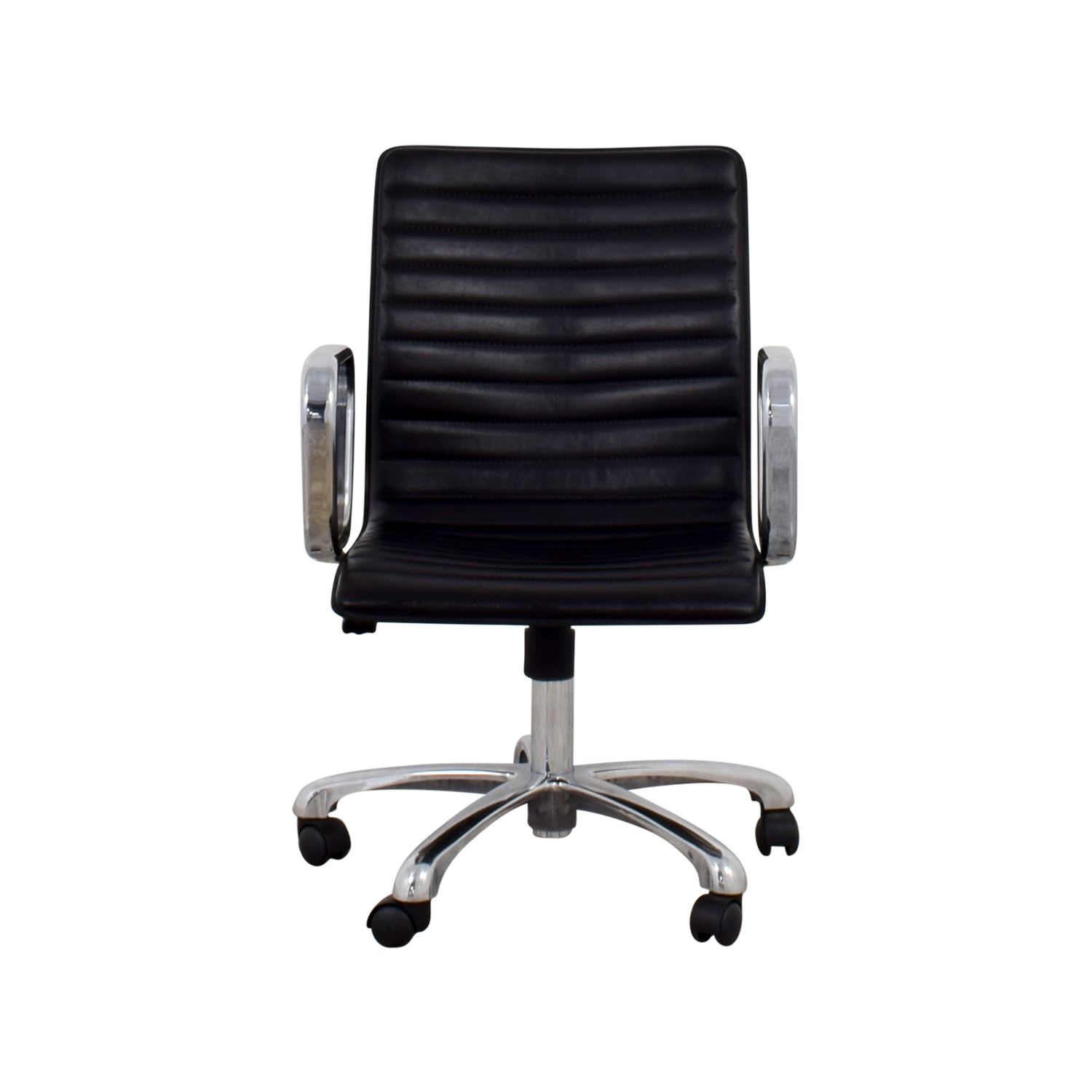 Crate & Barrel Ripple Leather Office Chair sale