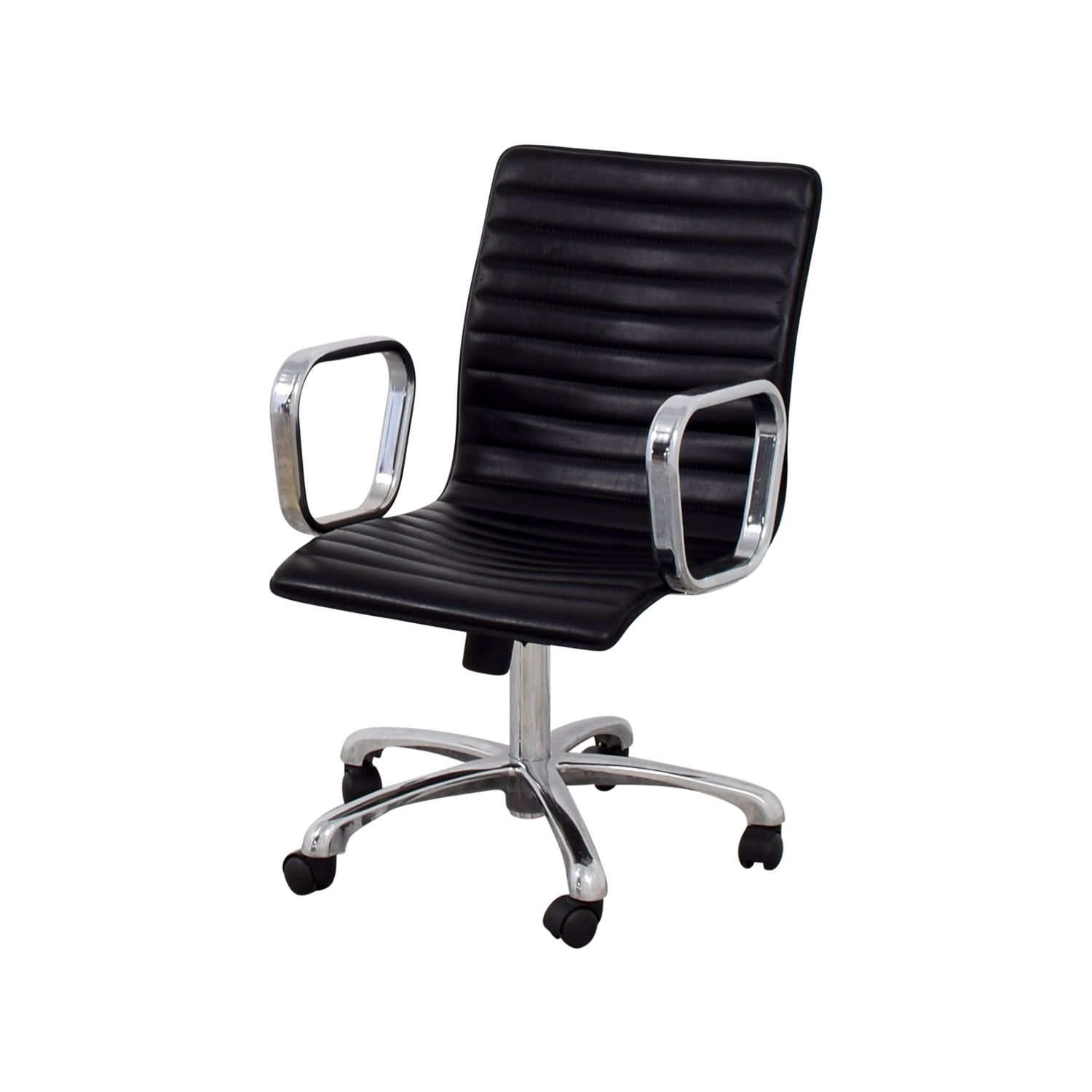 buy Crate & Barrel Ripple Leather Office Chair Crate & Barrel Home Office Chairs