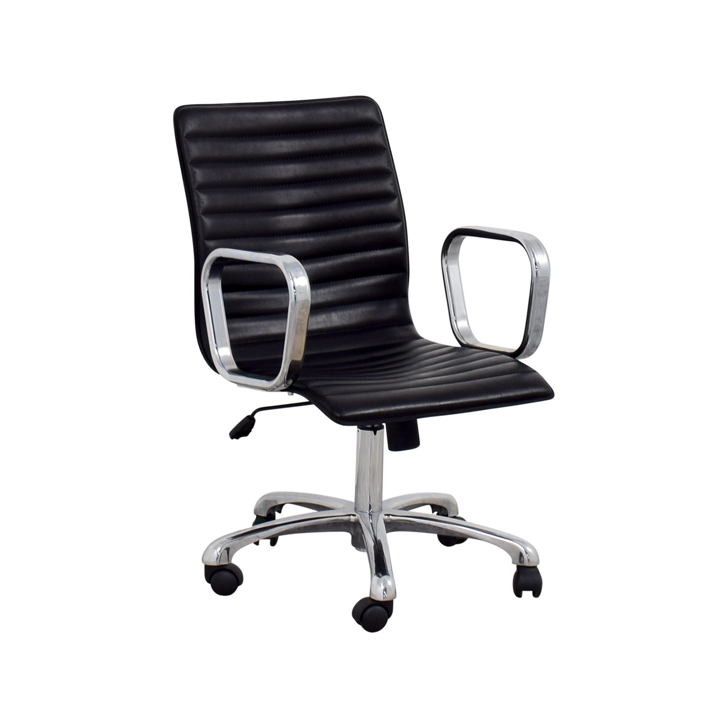 Crate & Barrel Ripple Leather Office Chair Crate & Barrel