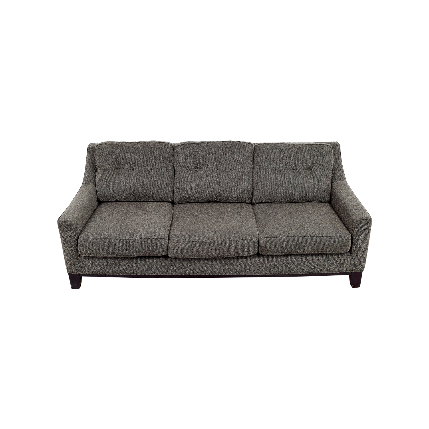 85% OFF   Cindy Crawford Home CIndy Crawford Home Grey Woven Fabric 3 Seat  Sofa / Sofas