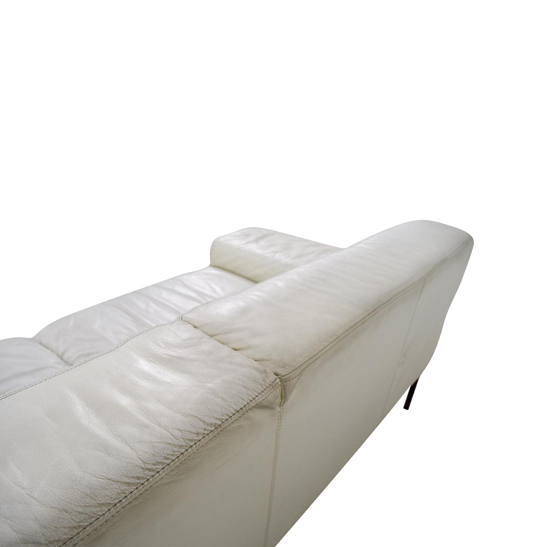 ... Jensen Lewis Jensen Lewis American Leather Tuscan White Leather Sofa  Price