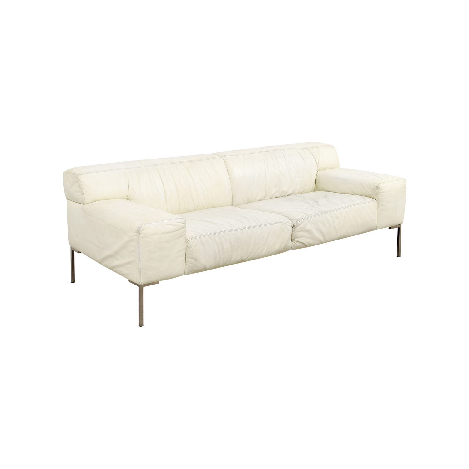 jensen lewis jensen lewis american leather tuscan white leather sofa nyc