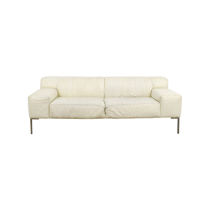Jensen-Lewis Jensen Lewis American Leather Tuscan White Leather Sofa price