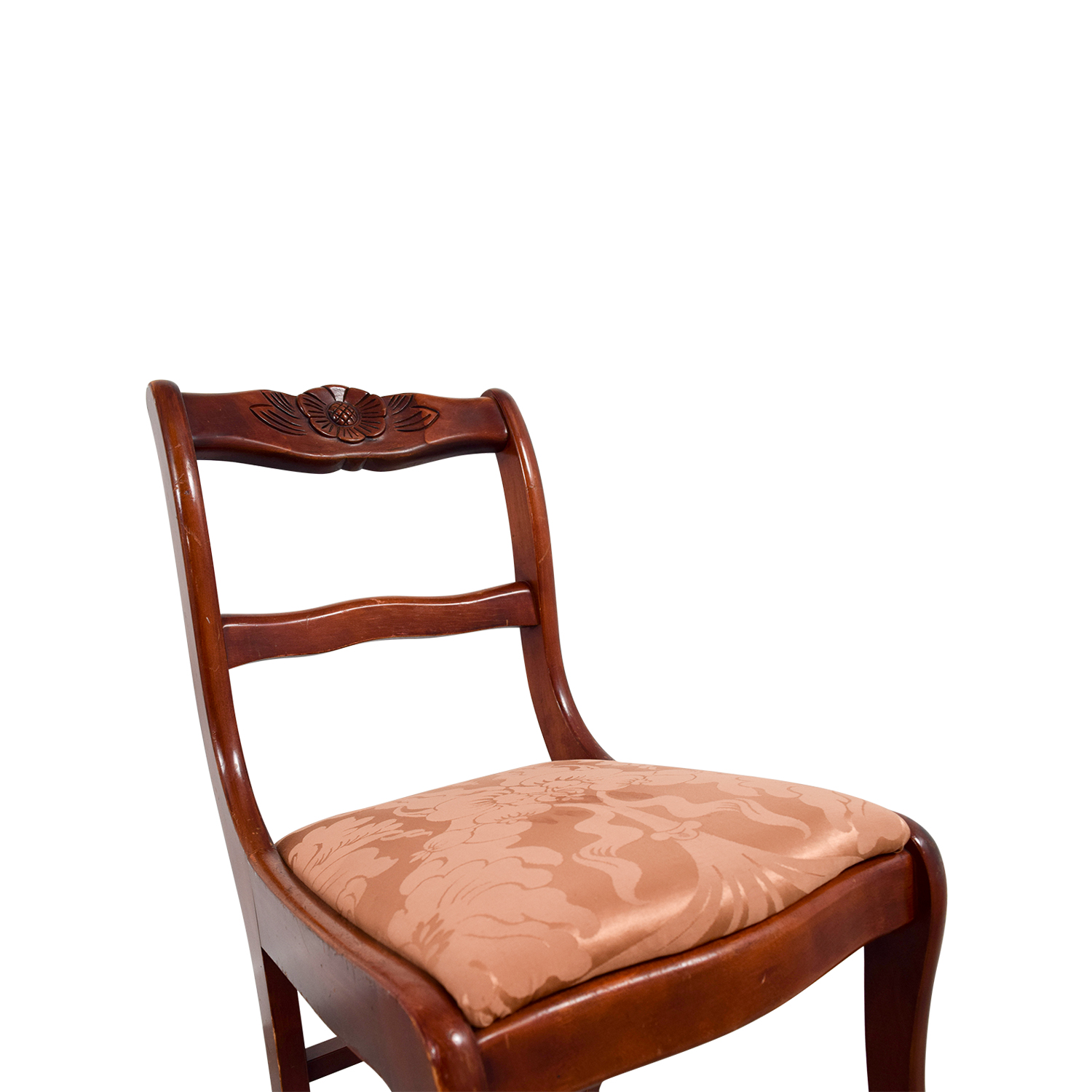 Silk Damask Upholstered Wood Chair discount