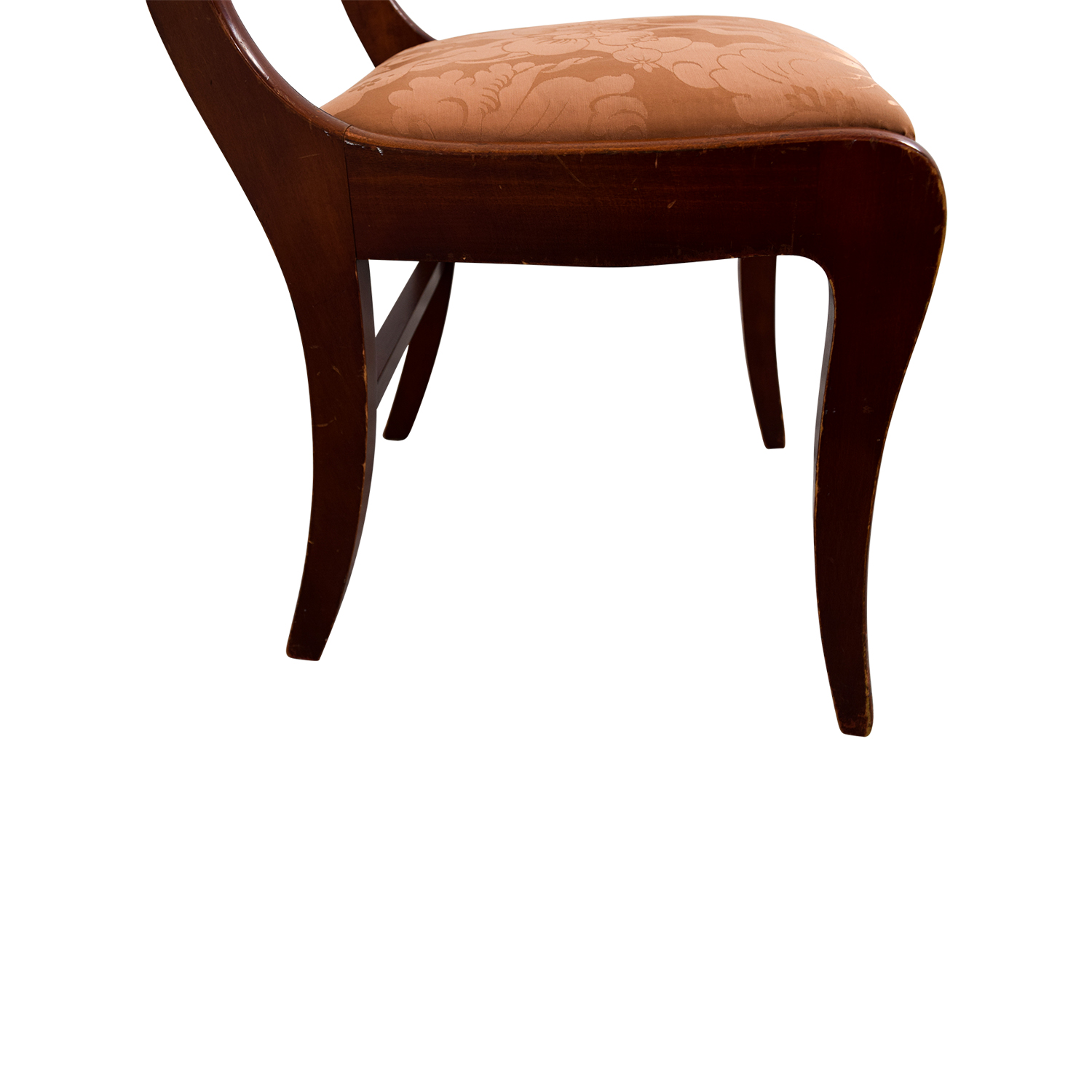 Silk Damask Upholstered Wood Chair sale