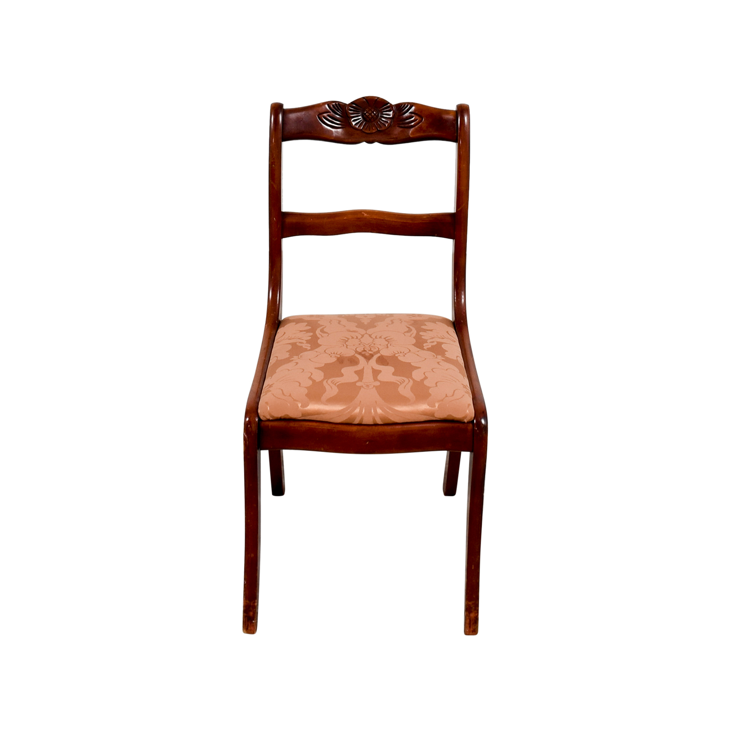 ... Silk Damask Upholstered Wood Chair ...