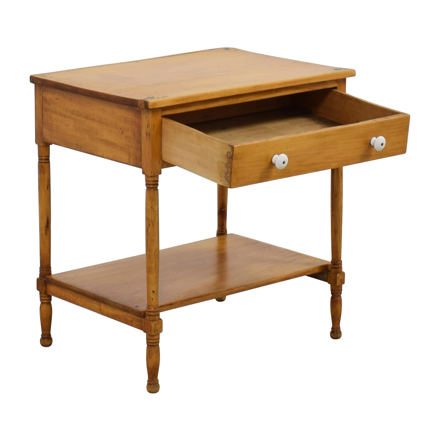 One-Drawer and Shelf Night Table on sale