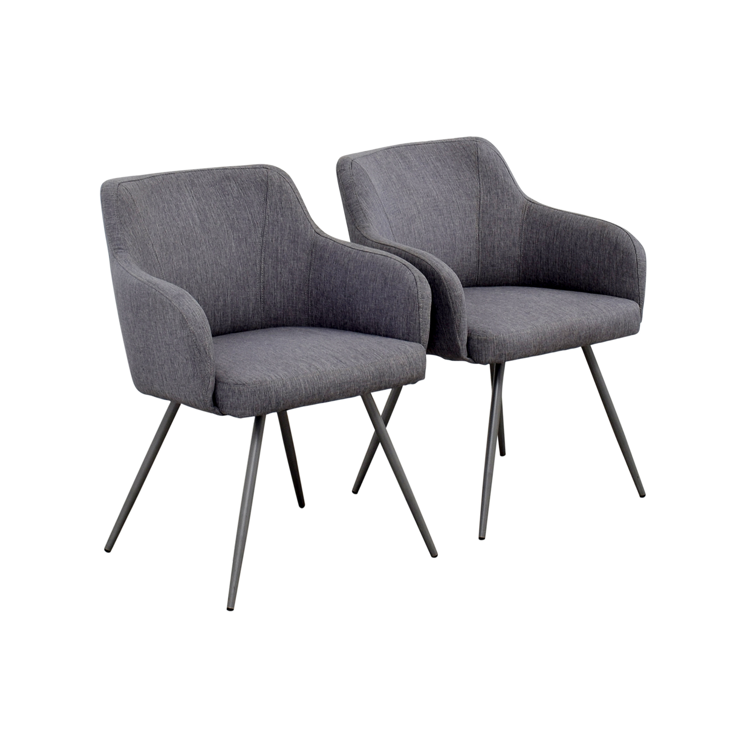 ... AllModern AllModern Mid Century Grey Upholstered Dining Chairs Chairs  ...