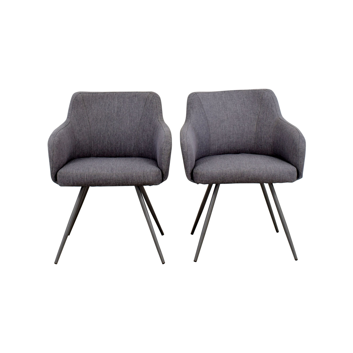 AllModern AllModern Mid-Century Grey Upholstered Dining Chairs nyc