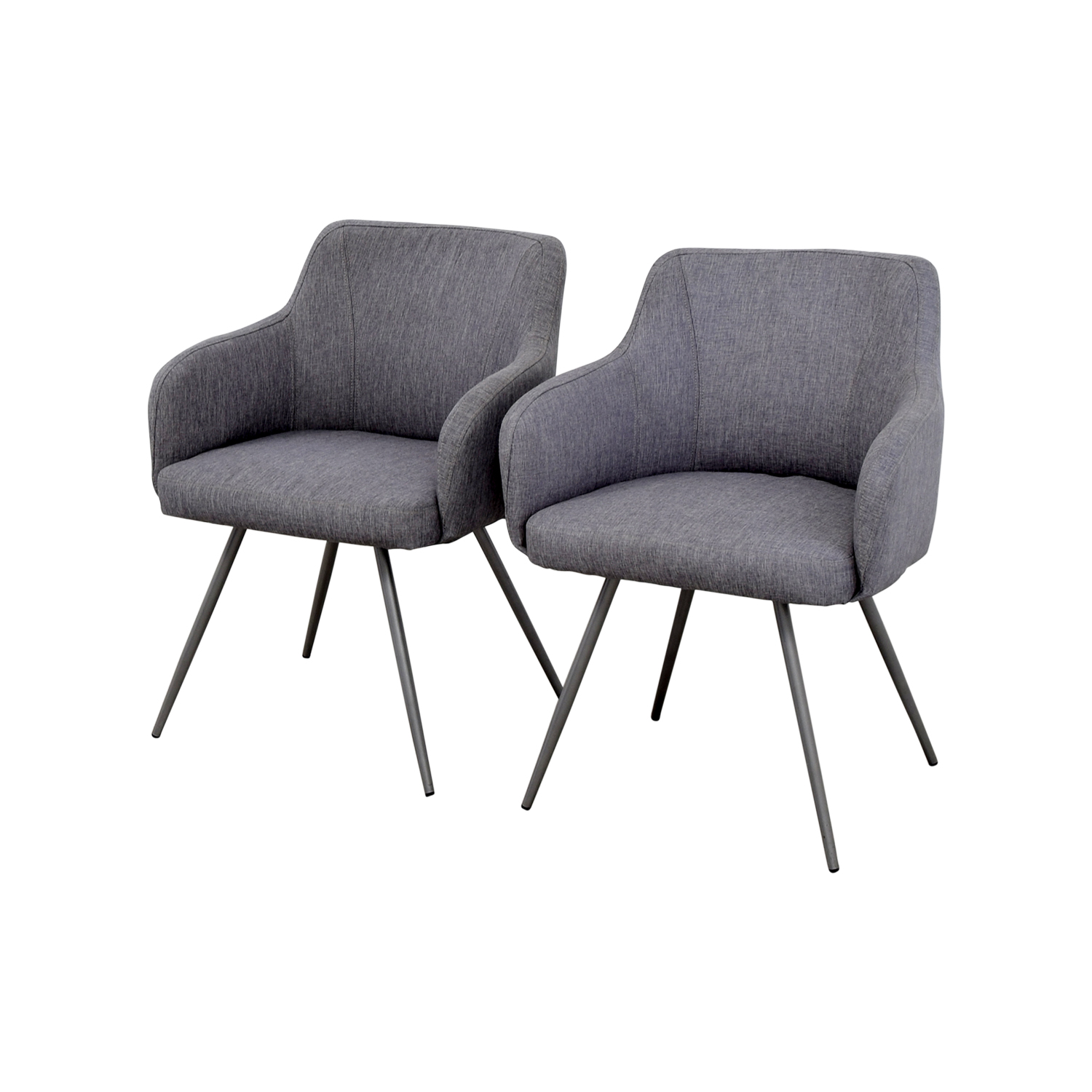 Phenomenal 63 Off Allmodern Allmodern Mid Century Grey Upholstered Dining Chairs Chairs Pabps2019 Chair Design Images Pabps2019Com
