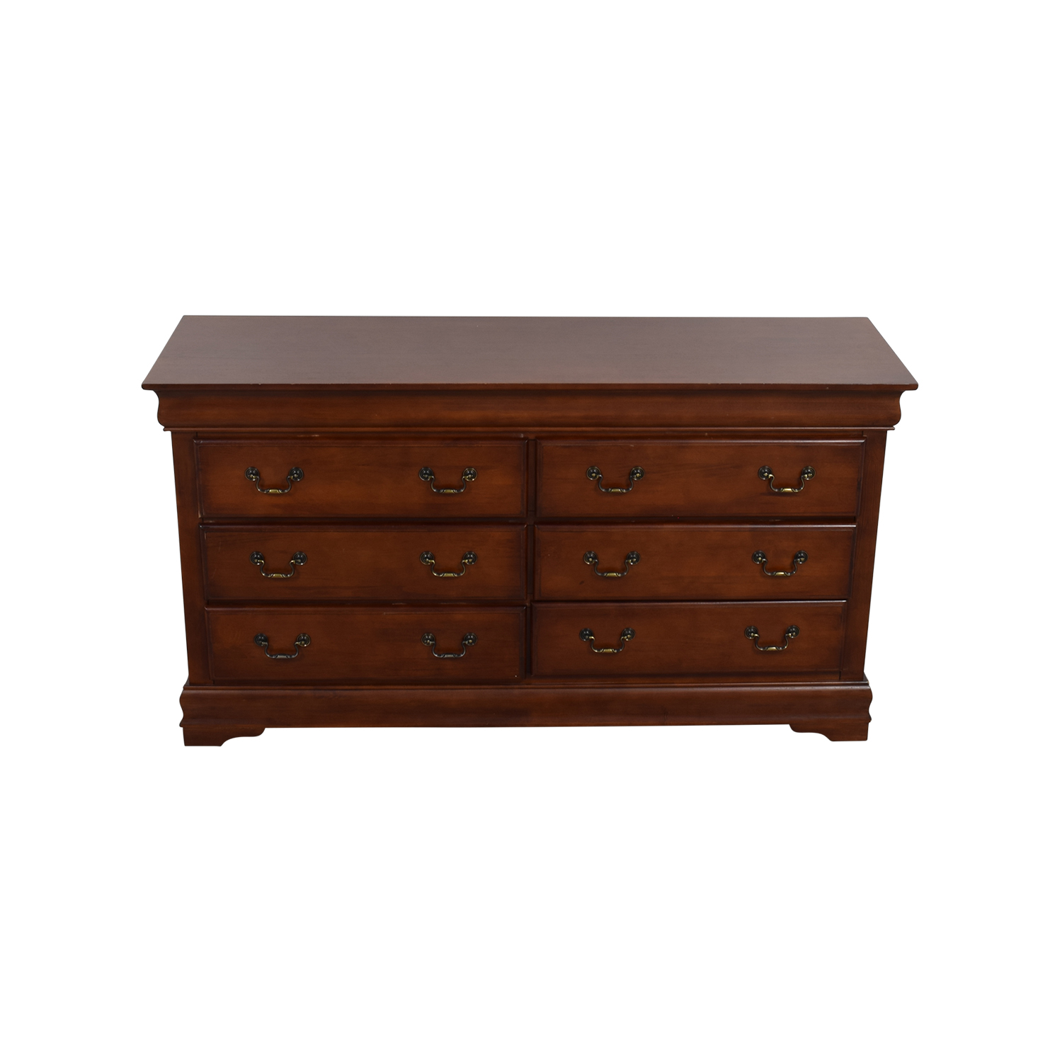 Wood Six-Drawer Dresser