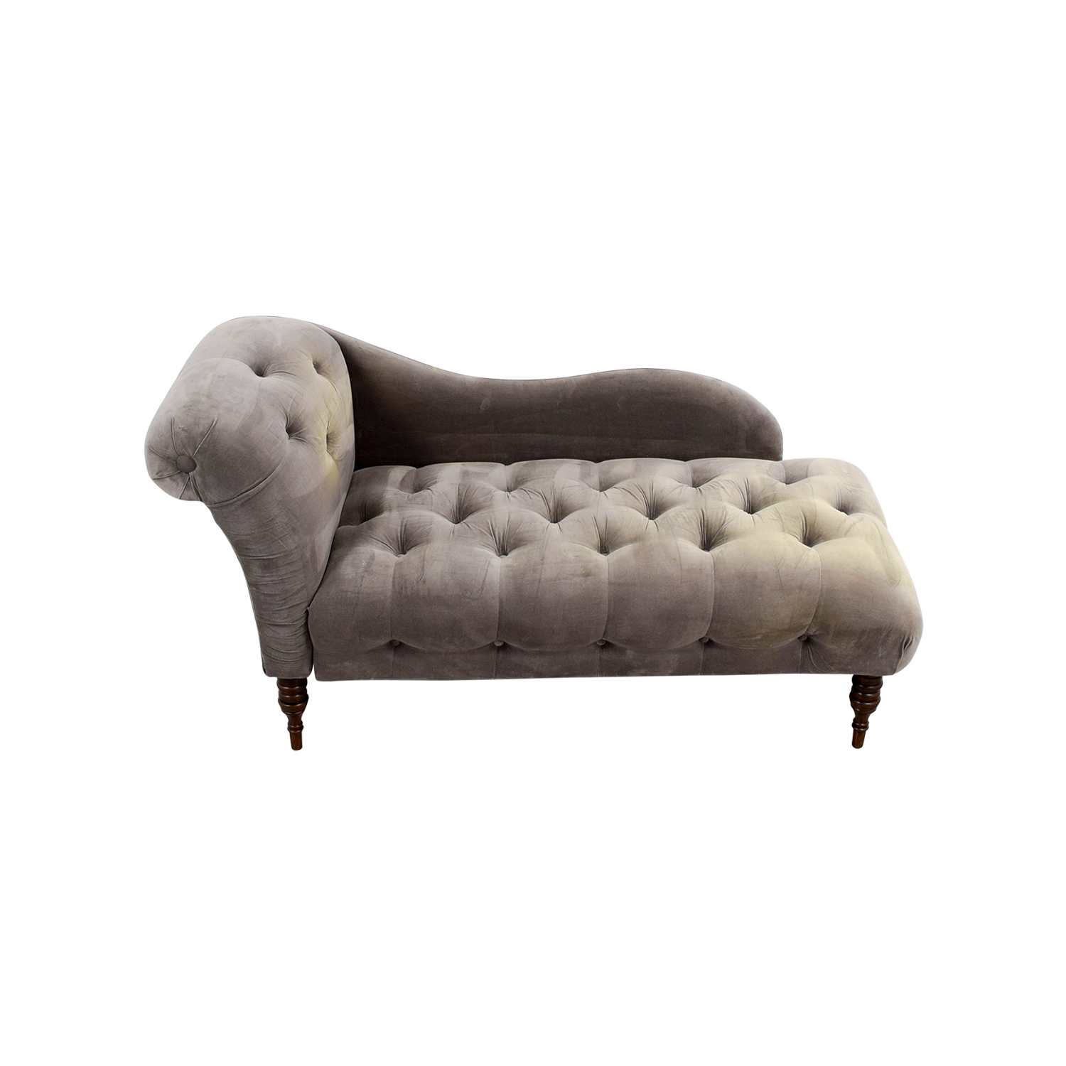 shop One Kings Lane Francis Smoke Chaise Lounge One Kings Lane Chaises
