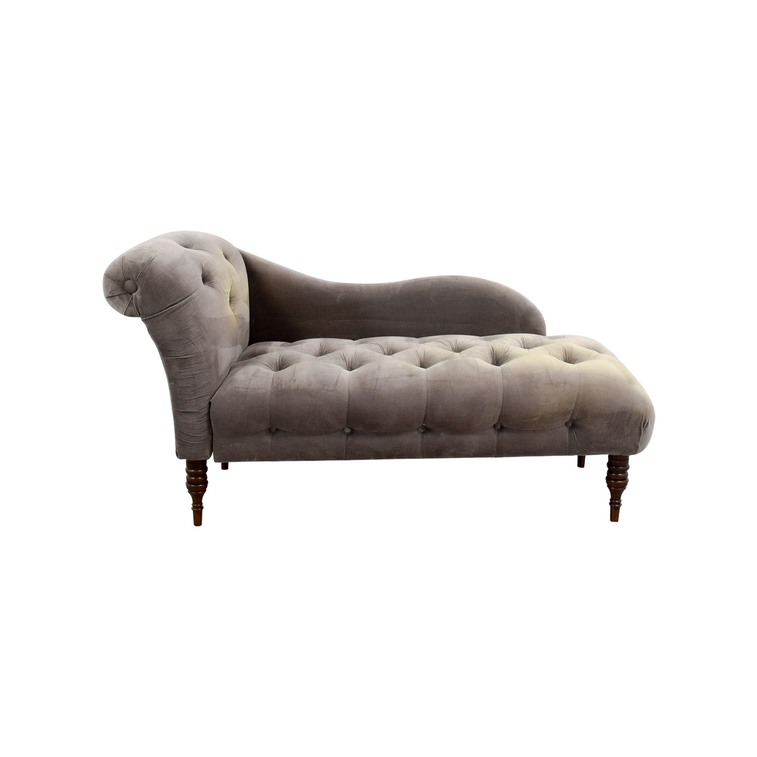 shop One Kings Lane Francis Smoke Chaise Lounge One Kings Lane Sofas