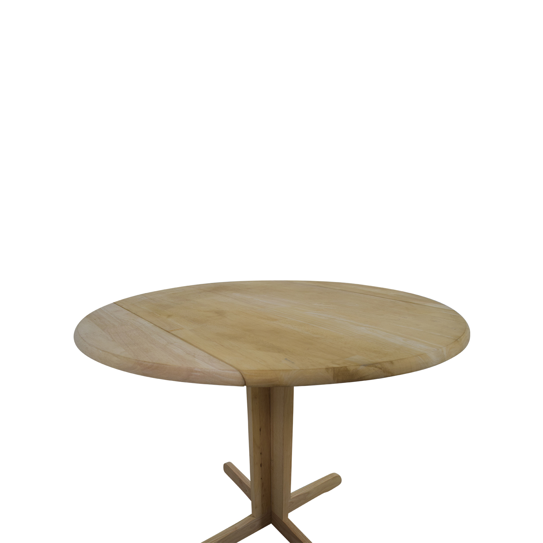 75% OFF AllModern AllModern Natural Wood Folding Leaf Table Tables
