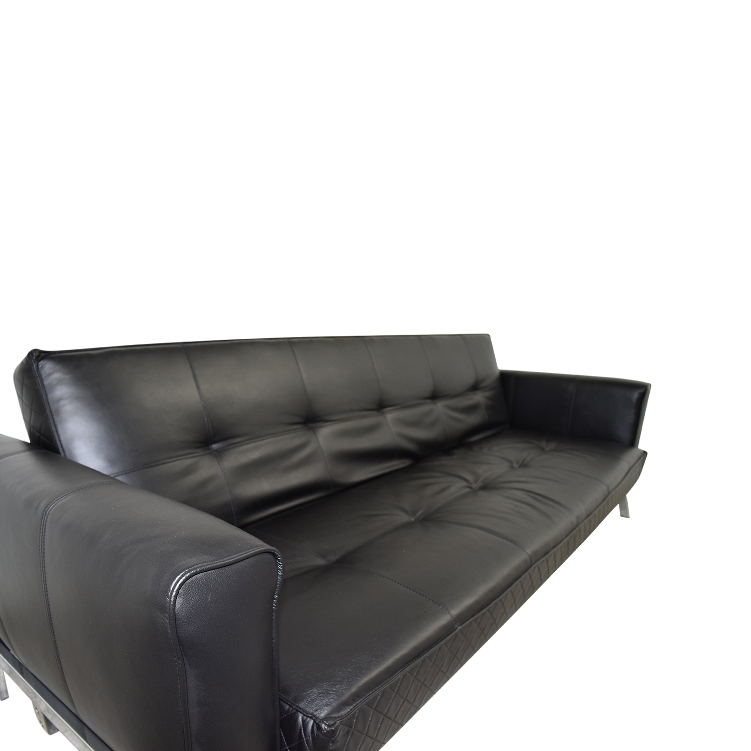 Sofa Leather Workshop: Black Leather Sleeper Sofa / Sofas