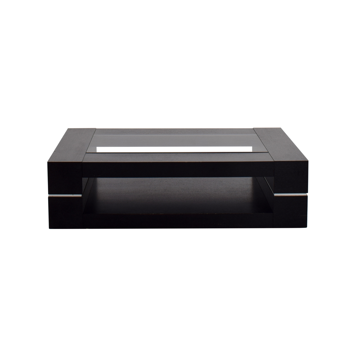 buy  Black Wood Coffee Table with Glass Top online