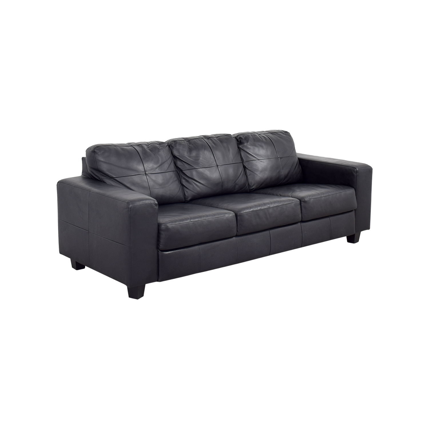 44 off ikea ikea skogaby black leather sofa sofas. Black Bedroom Furniture Sets. Home Design Ideas
