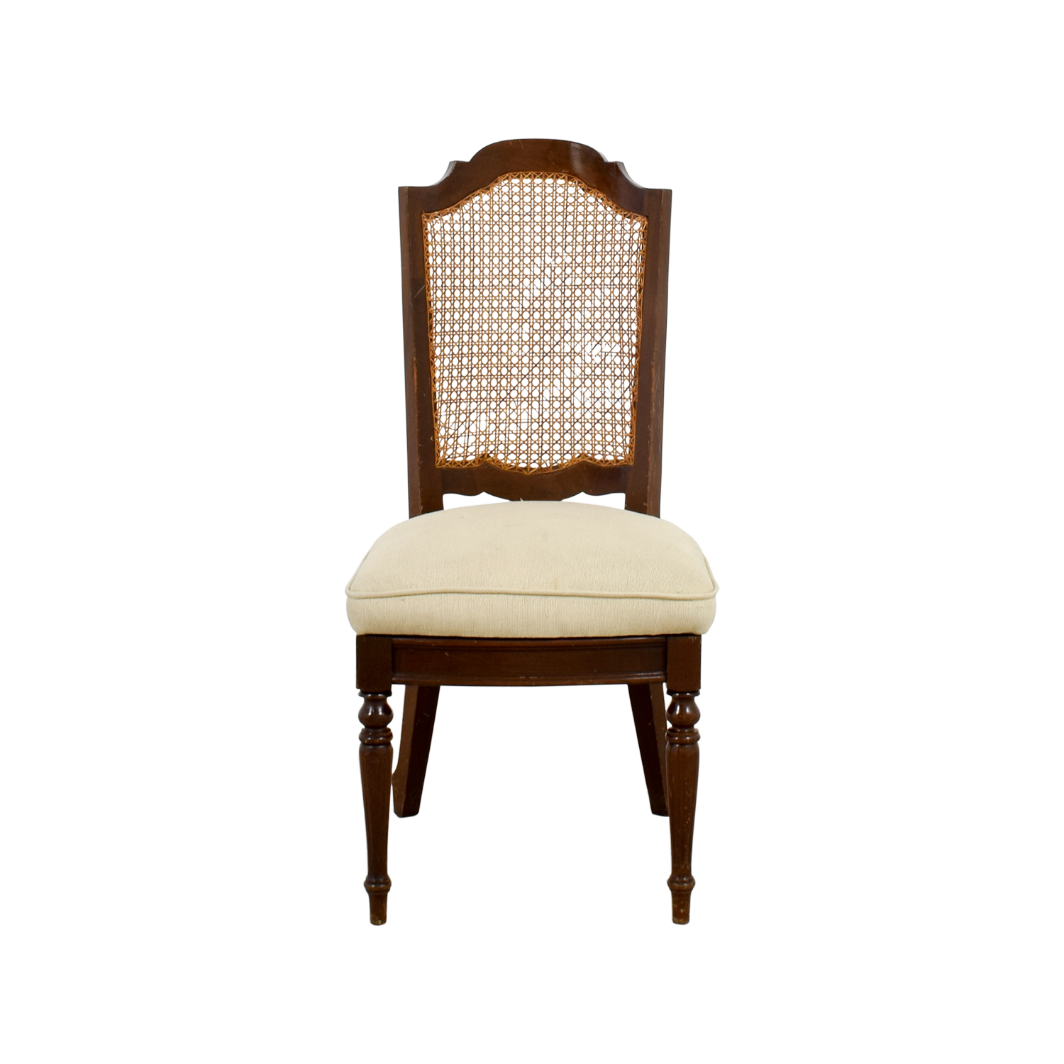 Beige Cain Webbing Back Country Chair sale