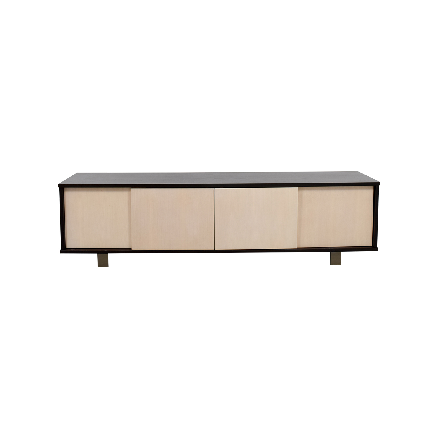 shop Custom Made Two-Toned Media Credenza  Storage