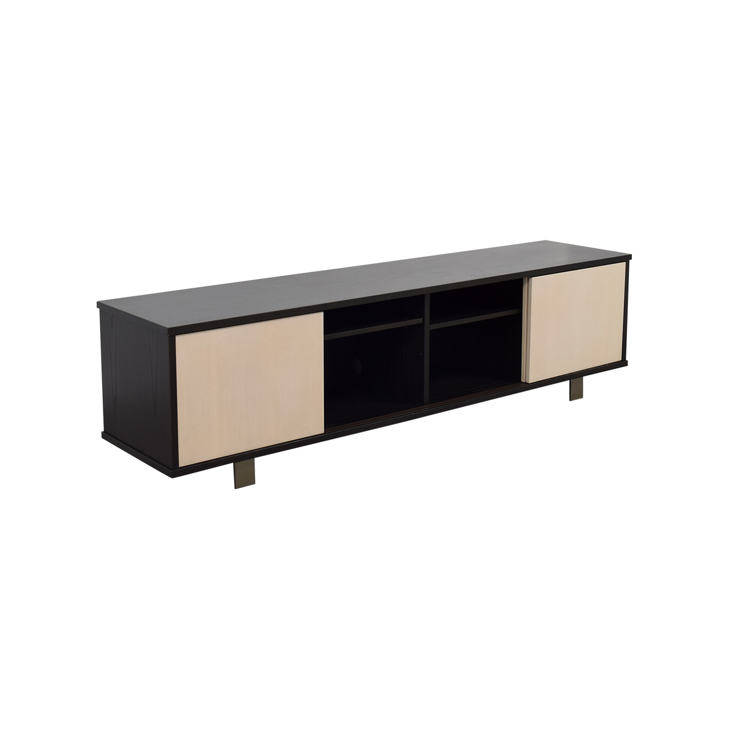 89 Off Custom Made Two Toned Media Credenza Storage