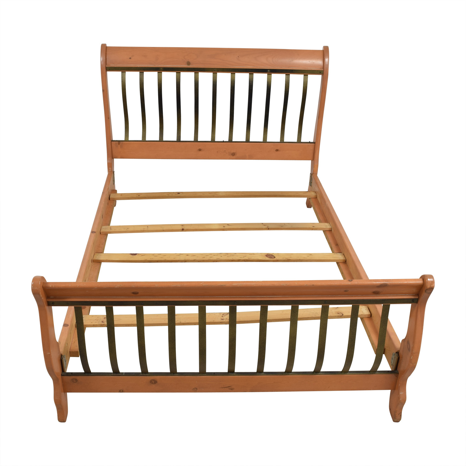 Queen Wood and Metal Sleigh Bed sale