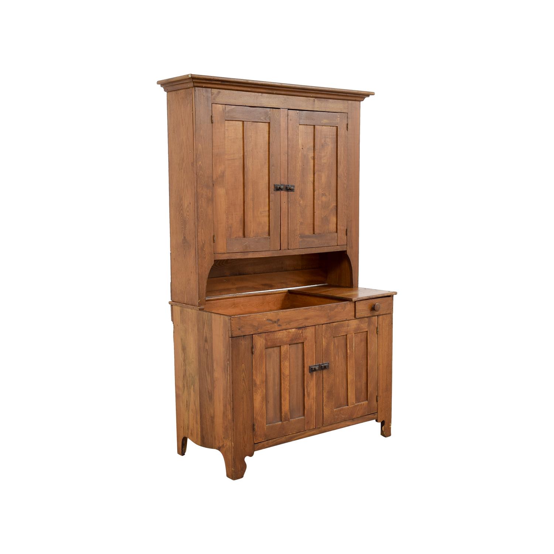 ... Antique Amish Hutch Cupboard discount ... - 56% OFF - Antique Amish Hutch Cupboard / Storage