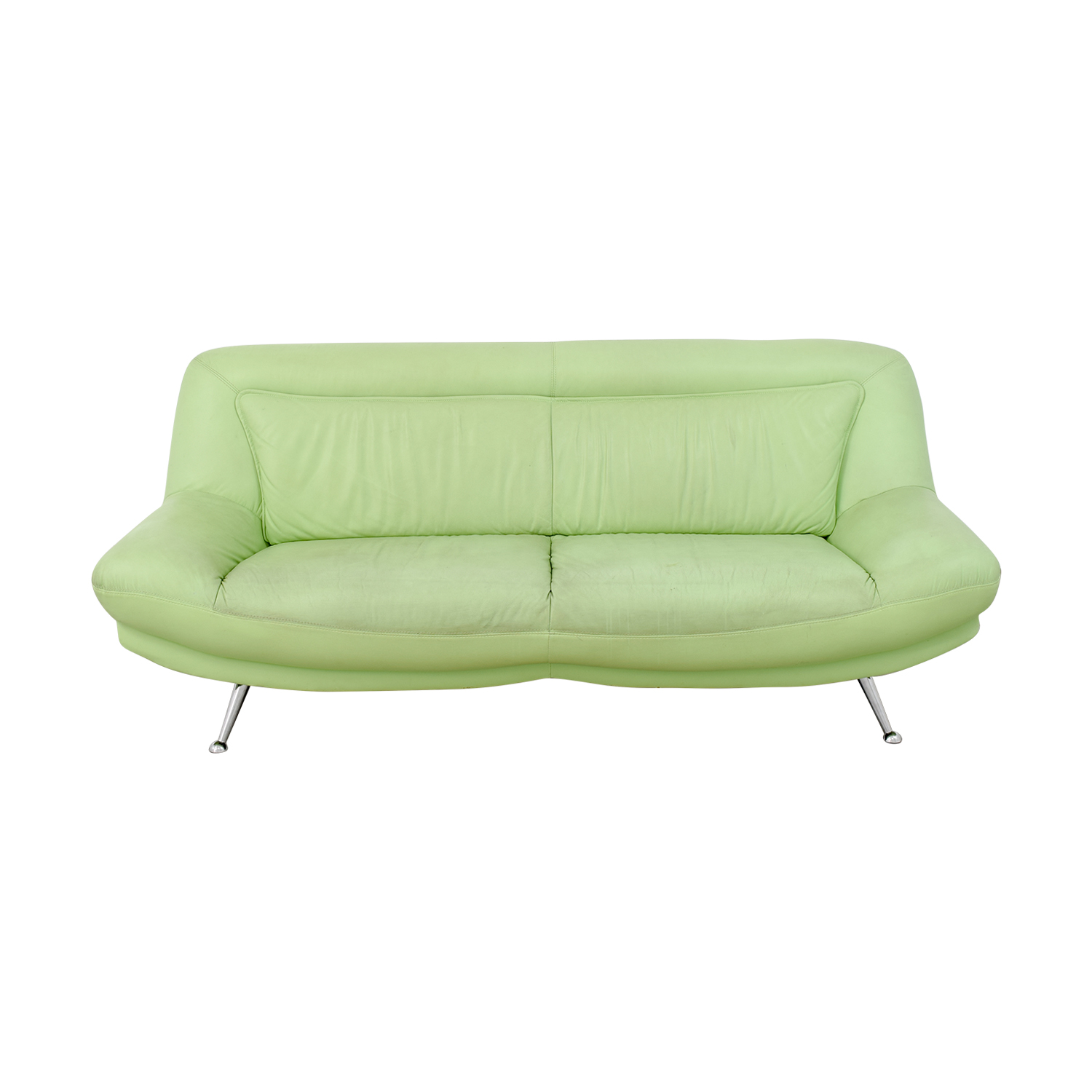 buy Italian Mint Green Leather Two-Cushion Sofa online