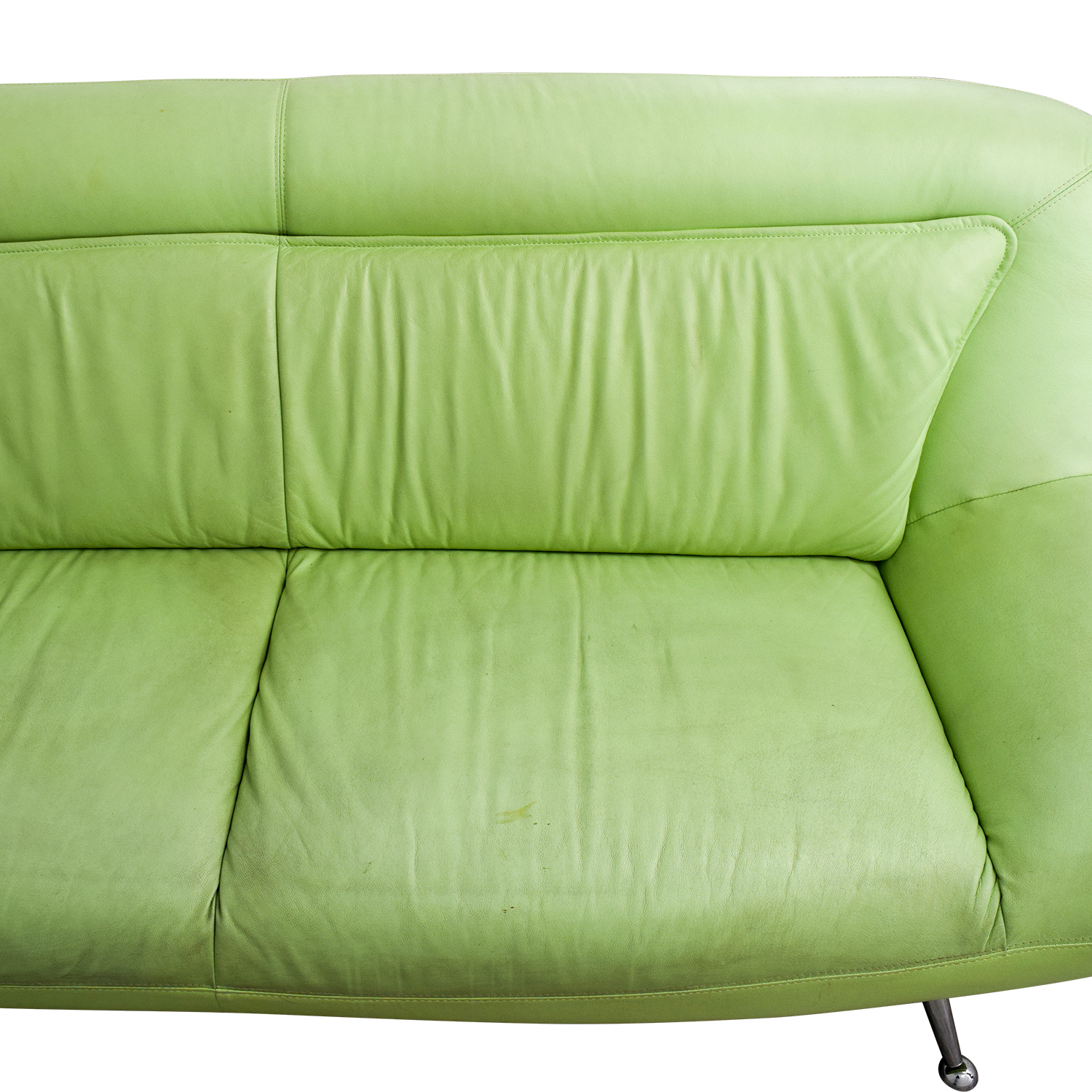 89 Off Italian Mint Green Leather Two Cushion Sofa Sofas