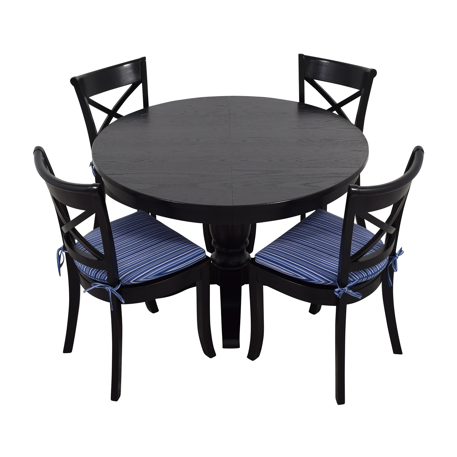 Crate & Barrel Crate & Barrel Table and Chairs Black
