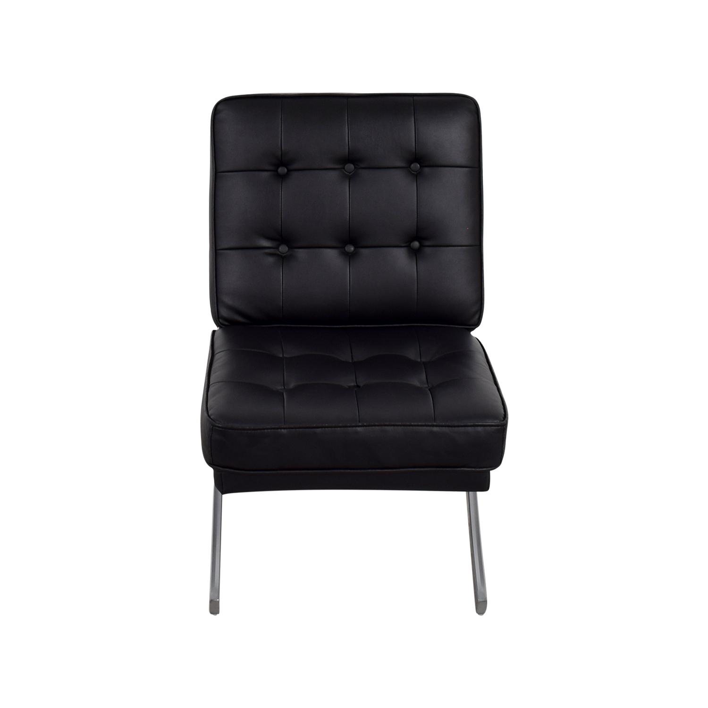 Raymour & Flanigan Raymour & Flanigan Black Dax Chair on sale