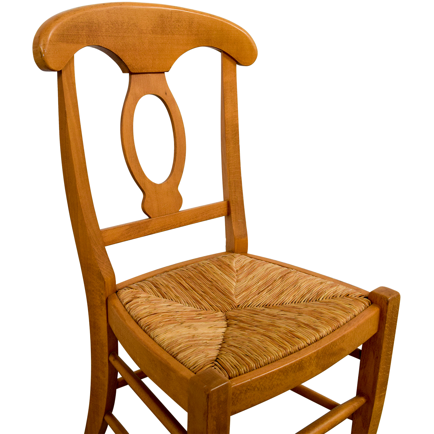 Pottery Barn Pottery Barn Wooden Straw Desk Chair for sale