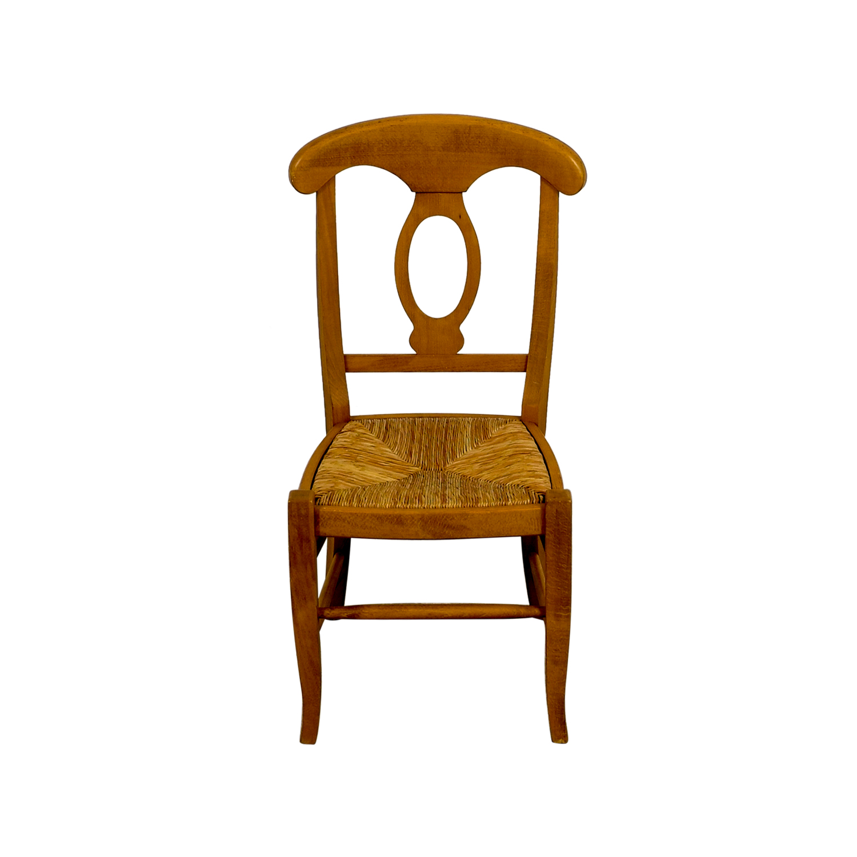 buy Pottery Barn Pottery Barn Wooden Straw Desk Chair online