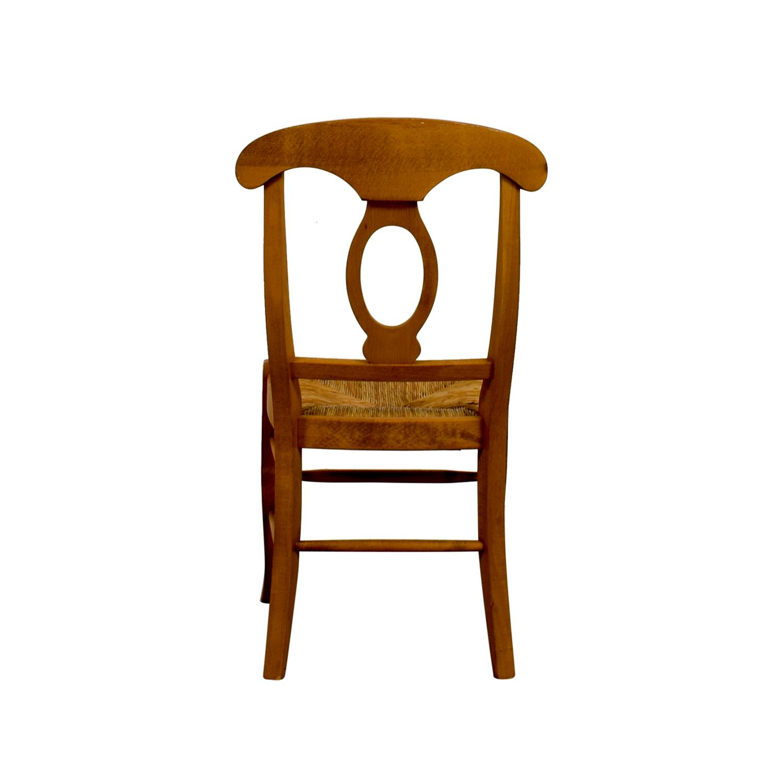 Pottery Barn Pottery Barn Wooden Straw Desk Chair nj