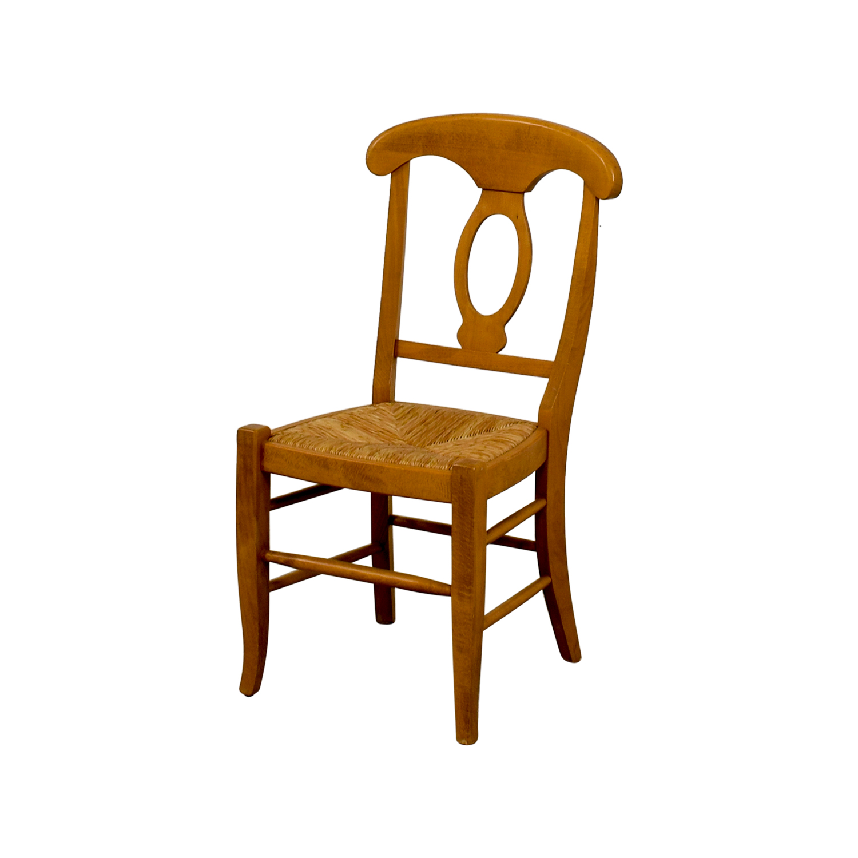buy Pottery Barn Wooden Straw Desk Chair Pottery Barn