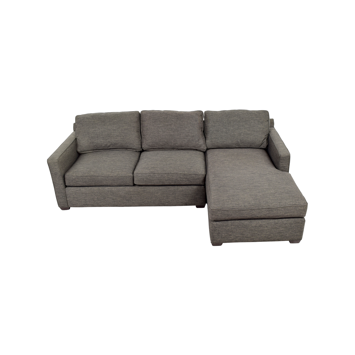 Crate and Barrel Crate & Barrel Davis Grey Chaise Sectional coupon