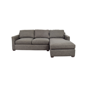 Crate and Barrel Crate & Barrel Davis Grey Chaise Sectional second hand