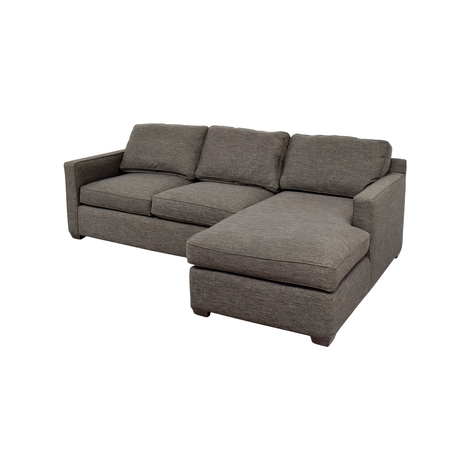Incredible 63 Off Crate Barrel Crate Barrel Davis Grey Chaise Sectional Sofas Gmtry Best Dining Table And Chair Ideas Images Gmtryco