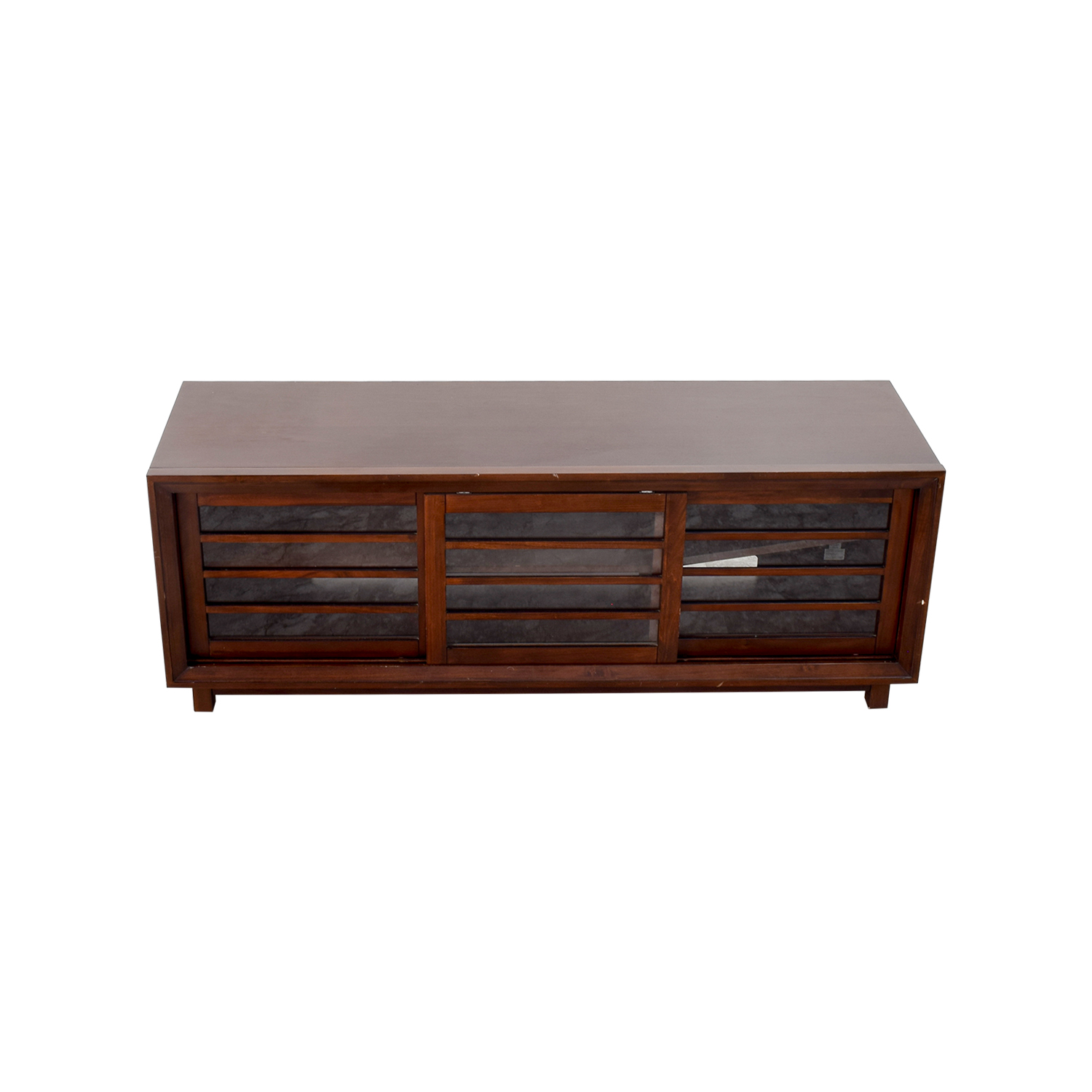 Crate & Barrel Crate & Barrel Wood and Glass Media Stand Brown