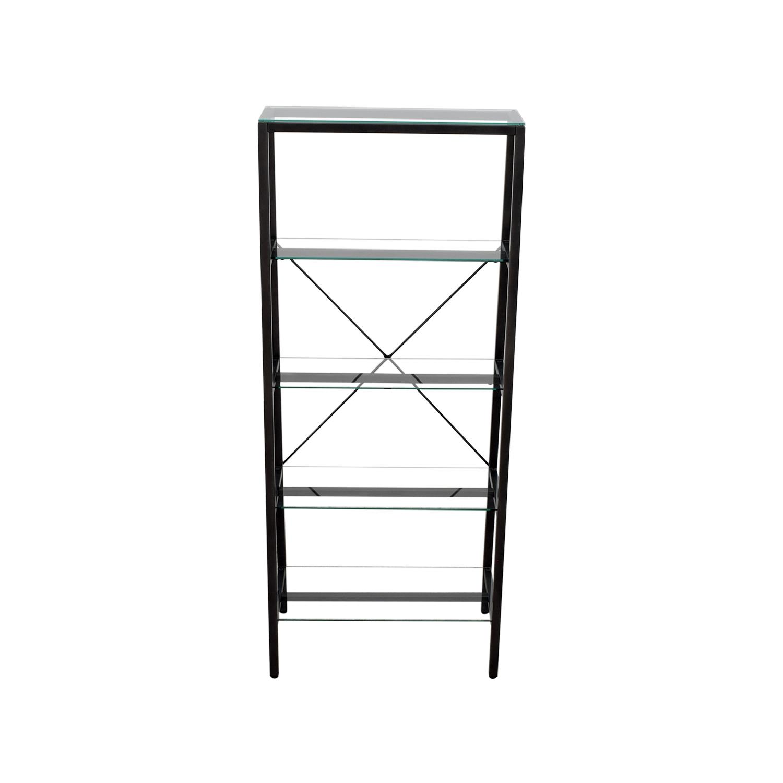 Metal & Glass Bookshelf / Storage