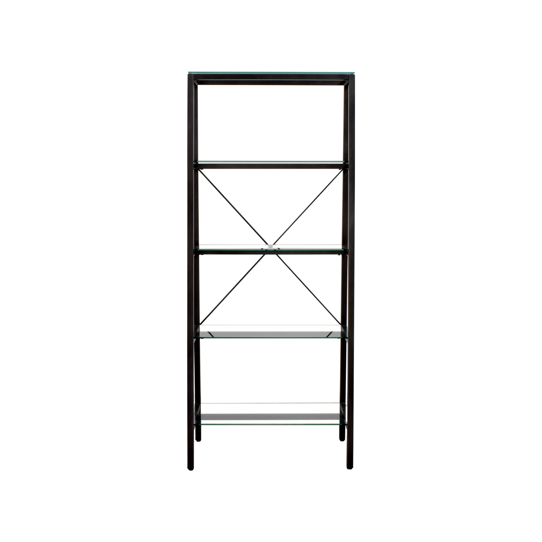 Metal & Glass Bookshelf used