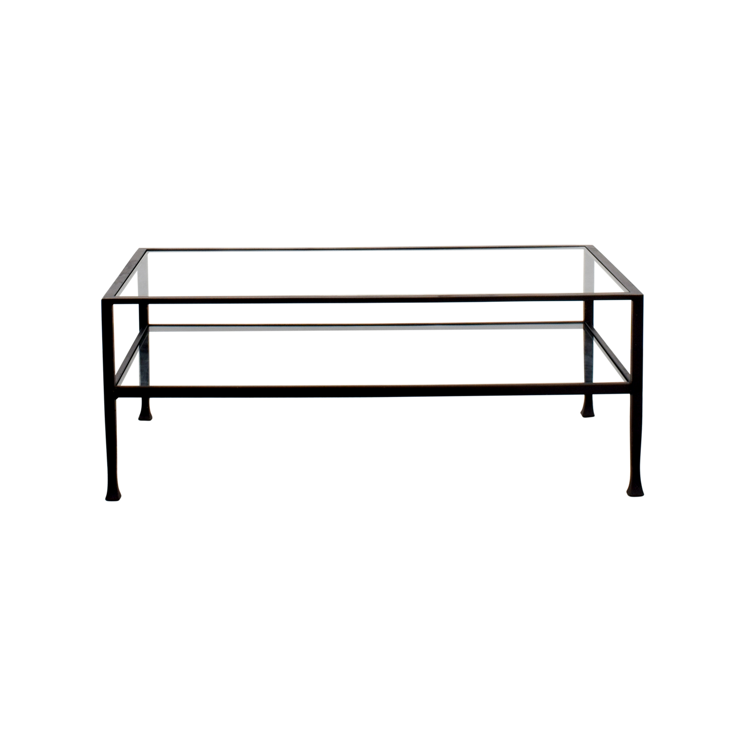 Rectangle Metal and Glass Coffee Table