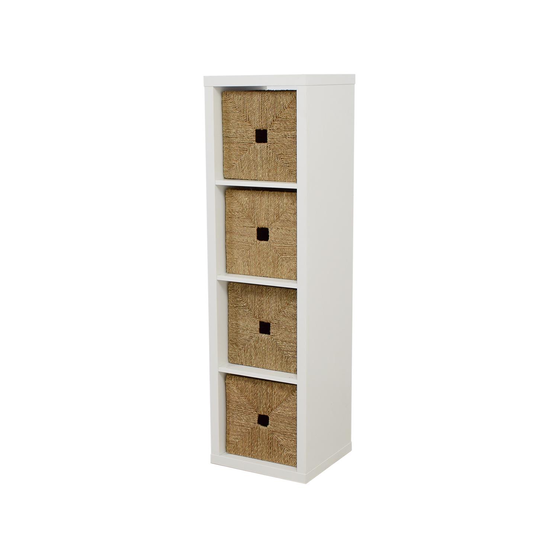 IKEA IKEA Rattan Cubby Shelf Unit discount
