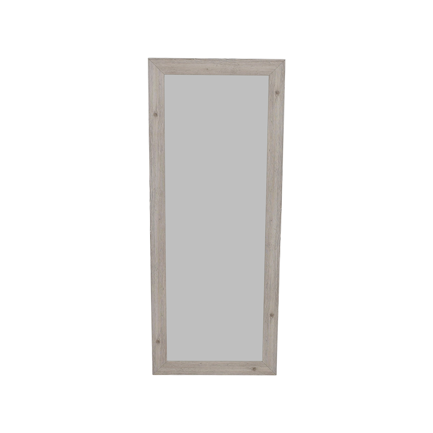 Rayne Mirrors Rayne White Washed Wooden Floor Mirror discount